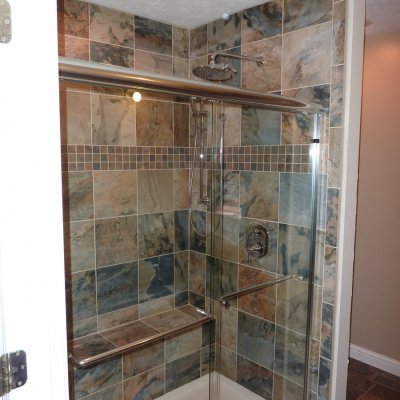 Custom shower remodel 1