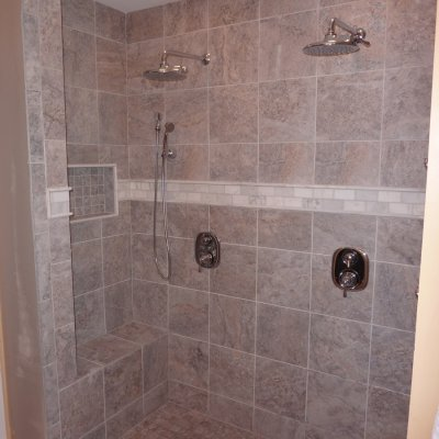 Custom shower remodel 10