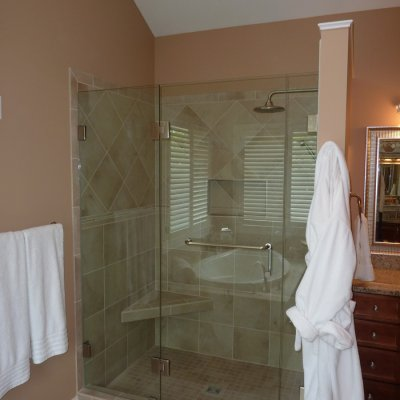Custom shower remodel 16