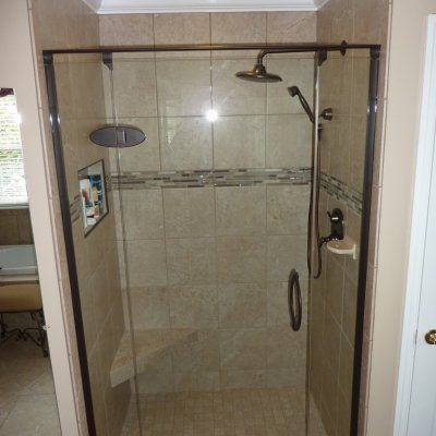 Custom shower remodel 21