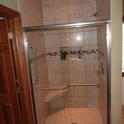 Custom shower remodel 22
