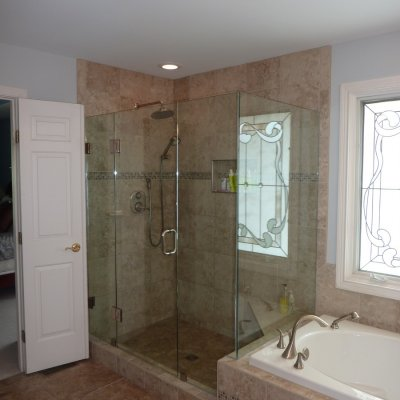 Custom shower remodel 26