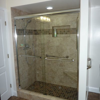 Custom shower remodel 29