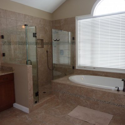 Custom shower remodel 30