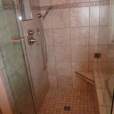Custom shower remodel 31