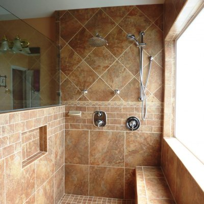 Custom shower remodel 37